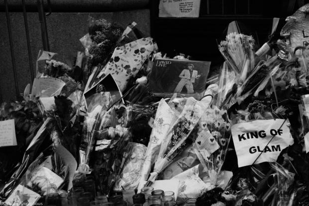 david bowie memorial lafayette street flowers